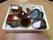 Sale 8601 - Lot 1118 - Tray Brown Polished Agate