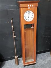 Sale 8684 - Lot 1001 - Proud LTD Scientific Wall Clock in Maple Case with Pendulum