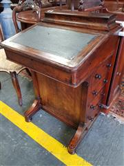 Sale 8814 - Lot 1090A - Victorian Inlaid Walnut Davenport, with stationery compartment, hinged writing slope & four drawers