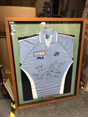 Sale 8865 - Lot 2073 - Signed Framed Cricket Jersey