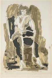 Sale 8901 - Lot 504 - Francis Lymburner (1916 - 1972) - Dancer, 1968 58 x 39.5 cm