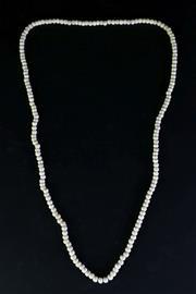 Sale 8968 - Lot 47 - A Long Bone Beaded Necklace (L 53cm)
