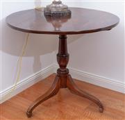 Sale 9005H - Lot 40 - A Georgian Mahogany tilt top occasional table on tripod base, Diameter of top 78cm x Height 71cm