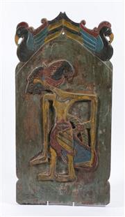 Sale 9003 - Lot 42 - A Handpainted Birdman Themed Plaque (H 60cm x W 30cm)