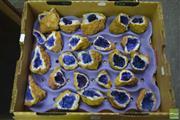 Sale 8284 - Lot 1080 - Box Of Split Royal Blue Geodes