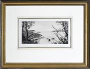 Sale 8330A - Lot 76 - Joseph Frost (1953 - ) - Obelisk Bay 14.5 x 29.5cm