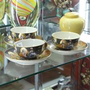 Sale 8362 - Lot 56 - Satsuma Set of 3 Cup & Saucers
