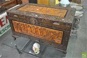 Sale 8406 - Lot 1094 - Carved Camphor Trunk