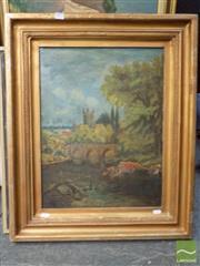Sale 8407T - Lot 2021 - Artist Unknown (XX) - English Country Scene 60 x 45cm