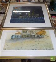 Sale 8495 - Lot 2031 - Jim Keller (2 works) - Keeping an Eye on Santa Maria Dela Salute, Venice; Harvest, frame size: 55 x 69cm; 52.5 x 69cm