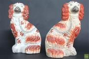 Sale 8586 - Lot 48 - Staffordshire Pair Of Cocker Spaniels (H: 25cm)