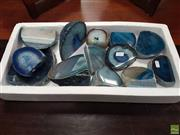 Sale 8601 - Lot 1375 - Tray Blue Polished Agate