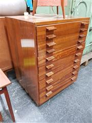 Sale 8684 - Lot 1020 - Early Toolmakers Chest with 10 Drawers