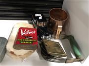 Sale 8802 - Lot 114 - A copper flour sieve with other vintage wares incl. car money box