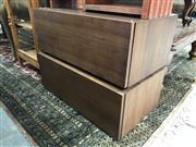 Sale 8822 - Lot 1585 - Pair of Modern Low Lying Drawer Units