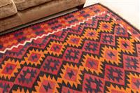 Sale 8934H - Lot 73 - A large predominantly red tone kilim, 295cm x 210cm