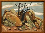 Sale 8964 - Lot 2001 - Phil Davey (1949 - ) - Burnt Trees 45 x 55cm