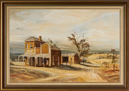 Sale 9101 - Lot 2076 - Peter Edwards - Bridge Hotel Yackandandah, 1981 60 x 90 cm (frame: 75 x 106 x 4 cm)