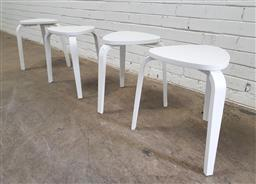 Sale 9121 - Lot 1054 - Set of four modern timber stools (h:46cm)