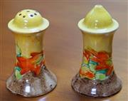 Sale 8320 - Lot 825 - Clarice Cliff bizarre salt and pepper shakers