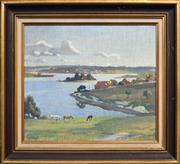 Sale 8408 - Lot 583 - E. A Harvey (1907 - 1994) - Landscape, 1929 24.5 x 39.5cm
