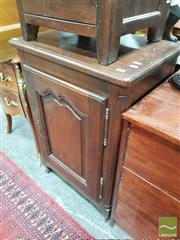 Sale 8424 - Lot 1037 - French Small Oak Cabinet, with shaped panel door