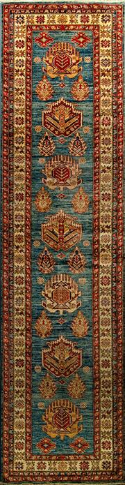 Sale 8424C - Lot 1 - Afghan Super Kazak 320cm x 84cm