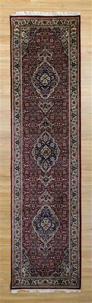 Sale 8576C - Lot 33 - Indo Persian Bidjar 302cm x 78cm
