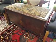 Sale 8601 - Lot 1279 - Inlaid Timber Lift Top Bench