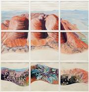 Sale 8657A - Lot 5010 - Joy Redman (1928 - 2006) - The Olgas, Central Australia 77 x 74cm