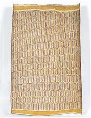 Sale 8718 - Lot 568 - Namiyal Bopirri (1929 - ) - Waynakal (Oyster) Dreaming natural pigments on bark