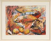 Sale 8771 - Lot 2009 - Val Landa (1940 - ) - Out of the Frying Pan... 53.5 x 74cm (frame: 76 x 94.5cm)