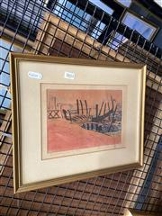 Sale 8891 - Lot 2033 - Edith Cowlishaw - Sunset In Venice, 19880 31 x 36 cm