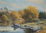 Sale 8916 - Lot 507 - Melvin Duffy (1930 - ) - Autumn Gold, Yass River 44.5 x 59.5 cm