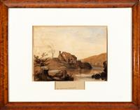 Sale 8934H - Lot 74 - George OBrien, The Yarra at Abbotsford 1854, watercolour, signed and dated lower left, 23cm x 31cm Provenance: Joshua McLelland Pri...