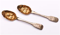 Sale 9104 - Lot 71 - A Pair of hallmarked sterling silver berry spoons