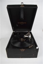 Sale 8381 - Lot 156 - Vintage Columbia Gramophone (handle missing)
