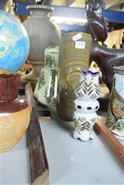 Sale 8396C - Lot 18 - Kookaburra Kettle with a Studio Pottery Piece & a Bohemian Glass Item