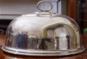 Sale 8649A - Lot 28 - An EP meat dome by Walker & Hall Sheffield, width 41cm