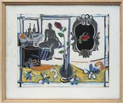 Sale 8716 - Lot 2074 - Ross Davis (1938 - 2001) - Odalisque Rosa, 1991 45.5 x 59.5cm