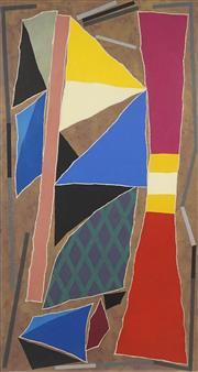 Sale 8708A - Lot 535 - Alun Leach-Jones (1937 - 2017) - Flag at the Mine 150 x 77.5cm