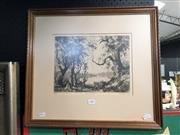 Sale 8807 - Lot 2081 - Douglas Pratt, Still Waters, etching ed. 56/75, frame size 47.5 x 52.5, signed lower right