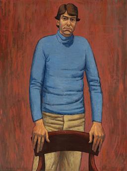 Sale 8938 - Lot 551 - Rick Amor (1948 - ) - Portrait of Peter Dennison, 1981 111 x 84 cm
