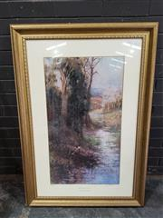 Sale 8961 - Lot 2075 - After Frederick McCubbin Midsummers Eve 1912 decorative print ed. 55/1500, 80 x 114cm (frame), signed by John McCubbin (printed f...