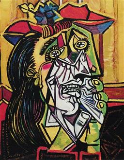 Sale 9108A - Lot 5043 - Pablo Picasso (1881 - 1973) - Weeping Woman with Red Hat 43 x 30 cm (sheet)