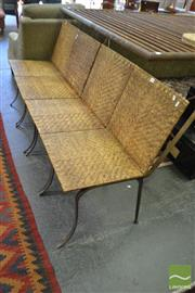 Sale 8480 - Lot 1192 - Set of 4 Cane and Metal Chairs
