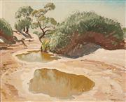 Sale 8624 - Lot 562 - Max Ragless (1901 - 1981) - Pools in the Diamantina 49.5 x 59.5cm