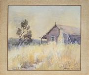 Sale 8781A - Lot 5086 - Winifred Caddy (1884 - ?) - Rural Country Cottage 24.5 x 26.5cm
