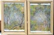 Sale 8941 - Lot 2028 - Pair Of Framed Paintings Of Forrest Scenes Signed Lower Right ( 24.5 x 26cm)