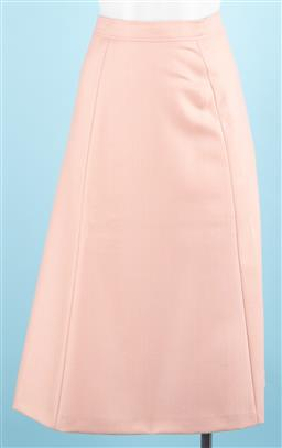 Sale 9091F - Lot 22 - A PAUL & JOE PINK A-LINE SKIRT; 100% lambswool, made in France, size 36